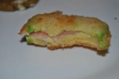 Sándwiches de calabacín y berenjena rellenos de jamón y queso