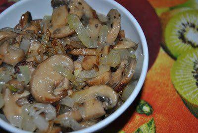 Relleno de champoñines y cebolla