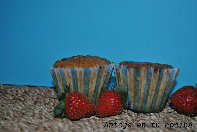 Muffins de fresa y chocolate blanco