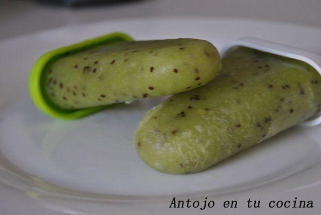 Refrescantes polos de kiwi y limón