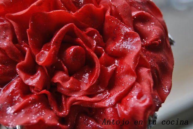 Rosa/flor fondant