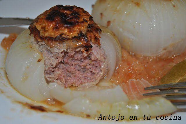 Cebollas rellenas de carne