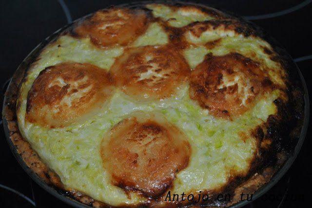 Tarta crujiente de calabacín y queso de cabra