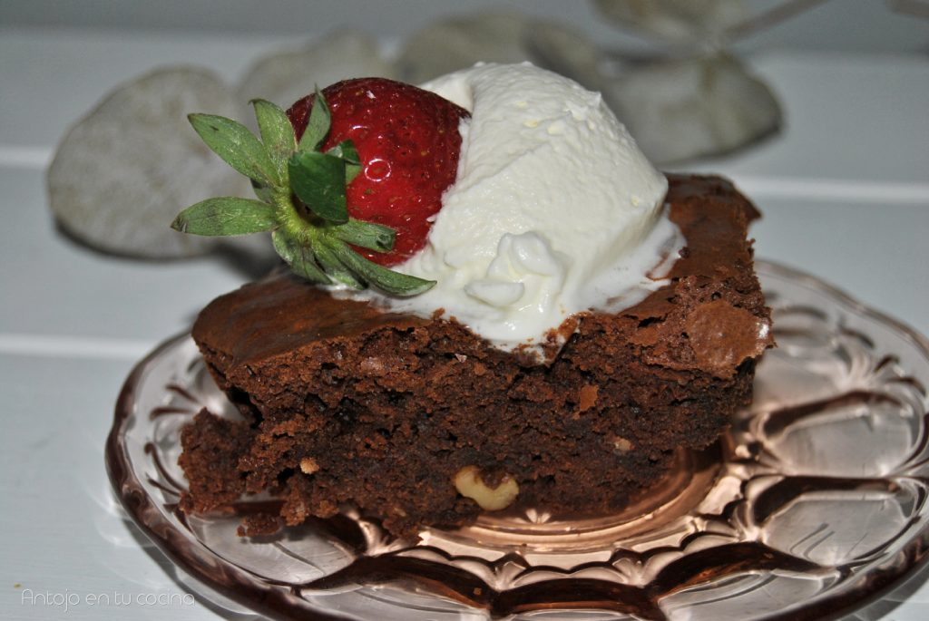 brownie facil paso a paso