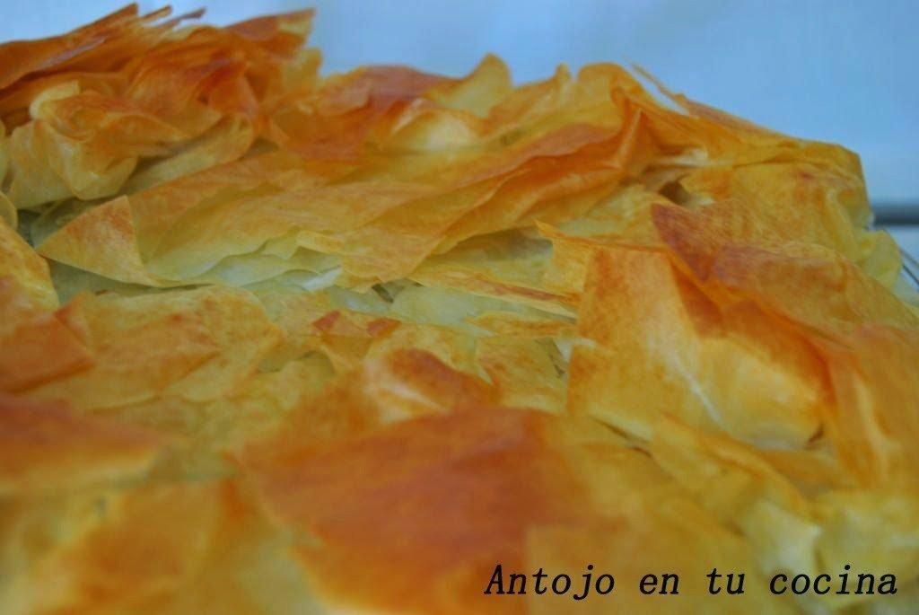 Spanakopita {Empanada griega de masa filo, espinacas y queso feta}