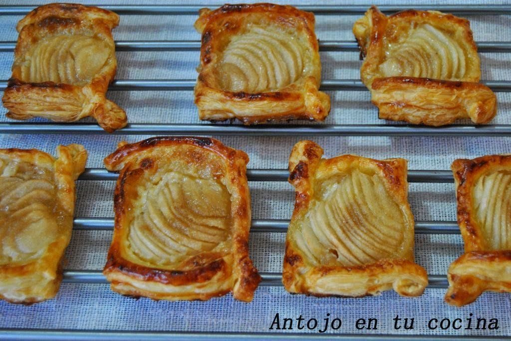 Tartas de pera con toffe salado