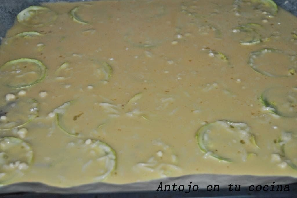 Pionono (rulo) de calabacín y champiñones