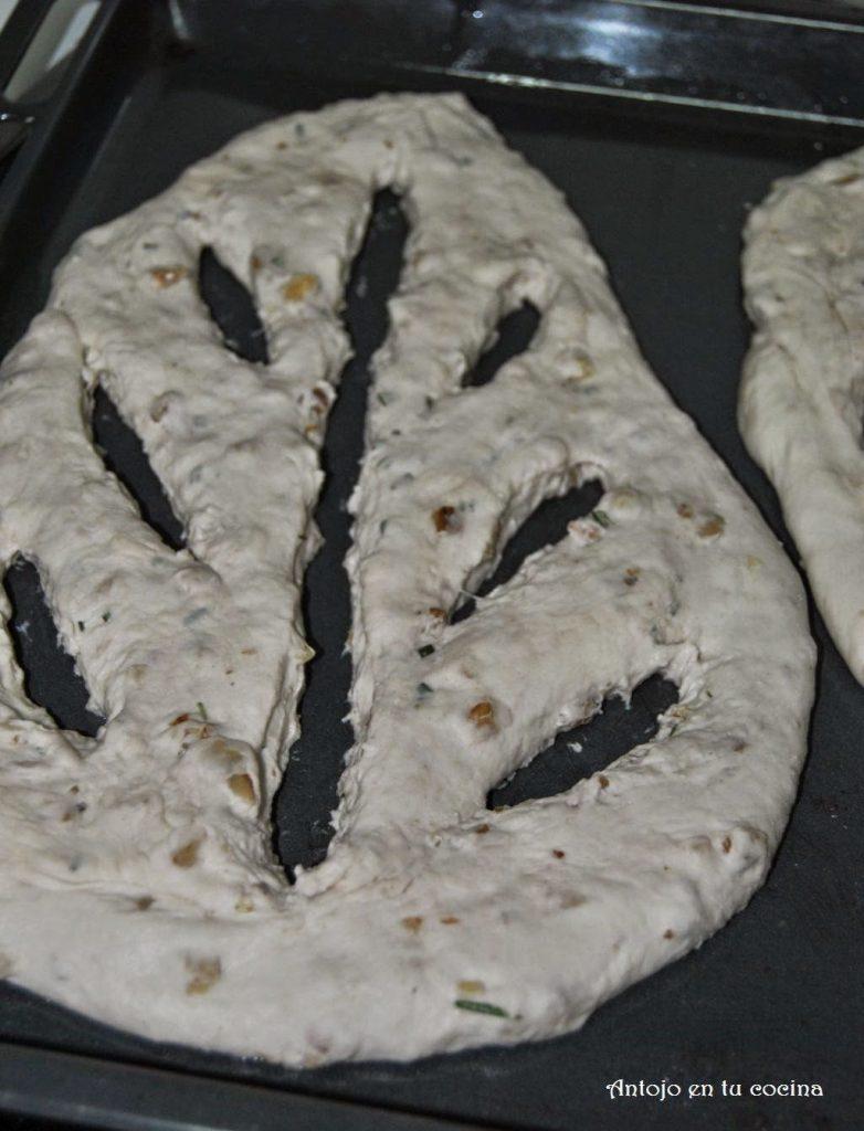 Fougasse de romero y nueces