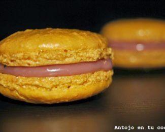 Macarons de chocolate blanco y frambuesa para el Mago de Oz