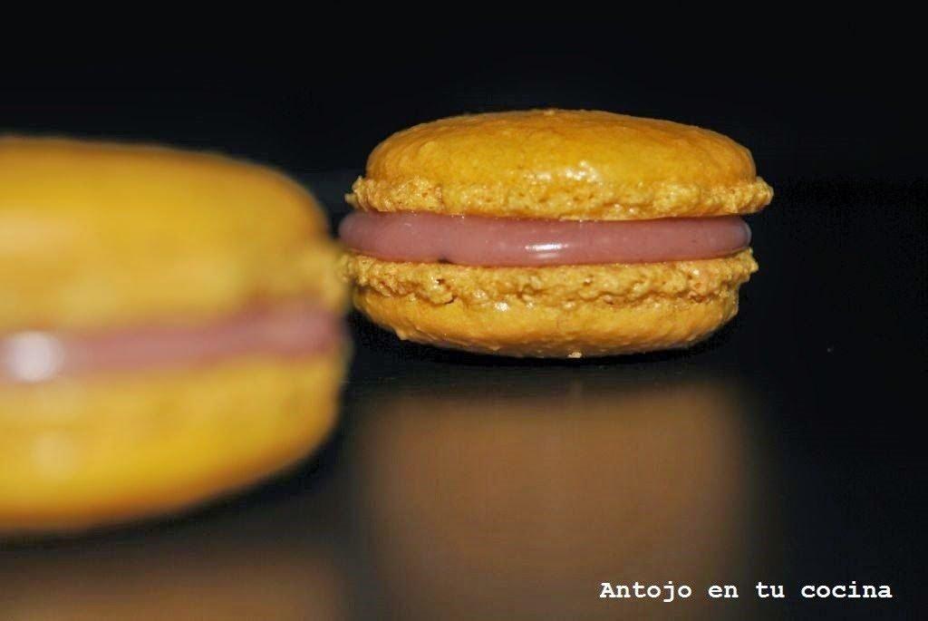Macarons de chocolate blanco y frambuesa