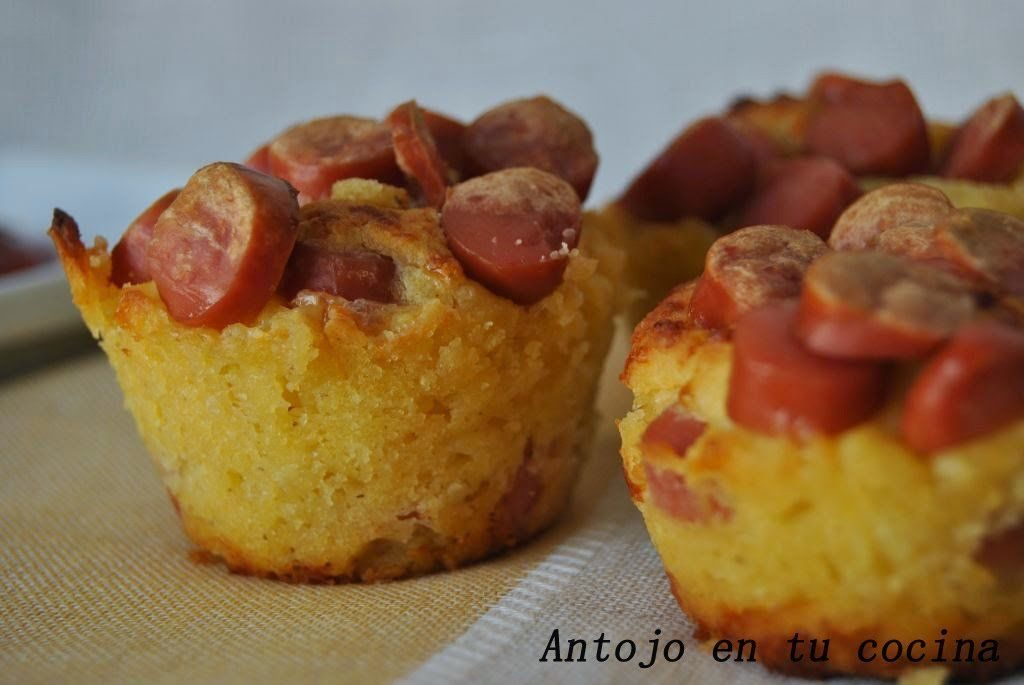 Corn dog mini muffins