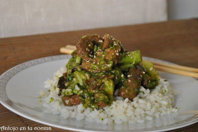 Ternera con brócoli y arrozcon brócoli y arroz