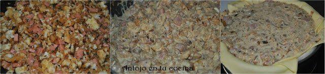 Tarta de coliflor, pavo y mascarpone paso a paso
