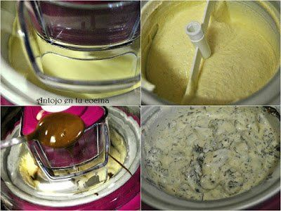 pasos a seguir: helado de stracciatella ocn heladera Lidl