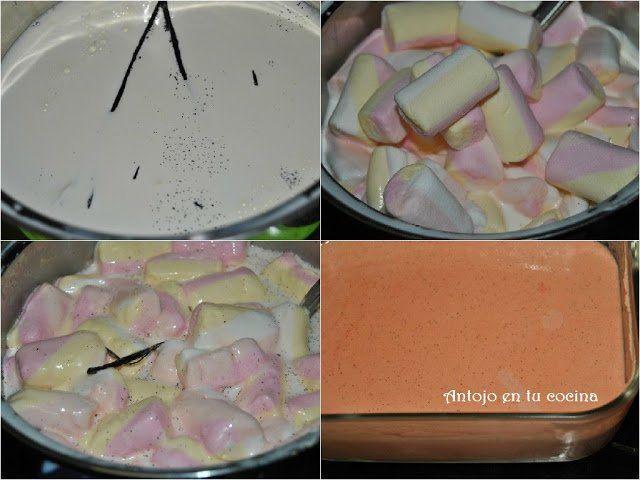 calentamos la leche, la nata y la vainilla; derretimos en ella las nubes y cuajamos con unas yemas de huevo. Dejamos reposar en la nevera y metemos la masa en la heladera.