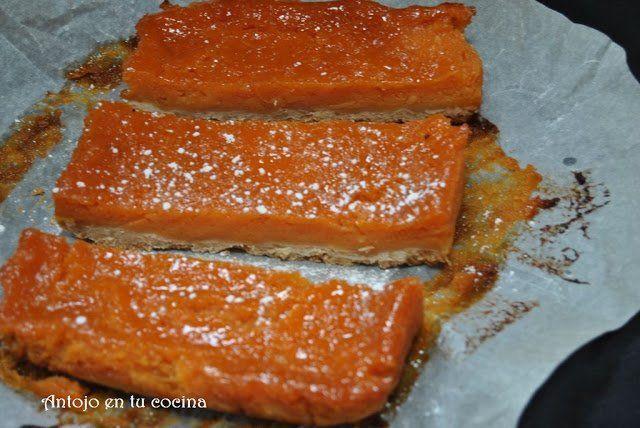 Healthy papaya bars