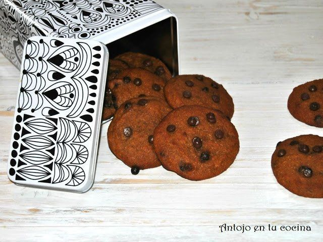 galletas de calabaza con pepitas de chocolate