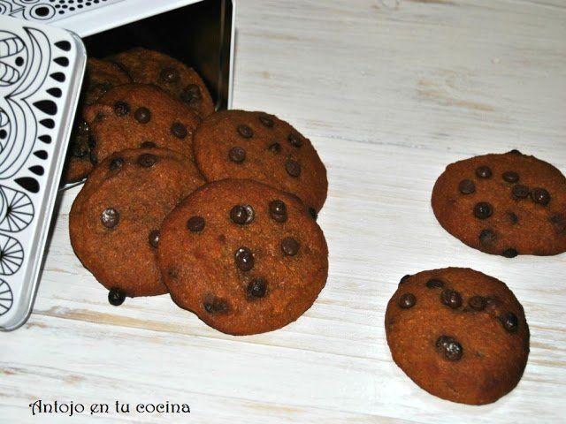 Galletas blandas de calabaza con pepitas de chocolate (integrales y veganas)