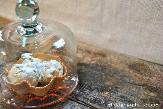 Helado de tarta de manzana