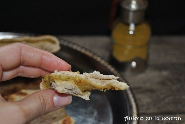 Paratha integral rellena de patata especiada