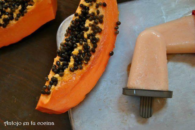 polos cremosos de papaya y cítricos