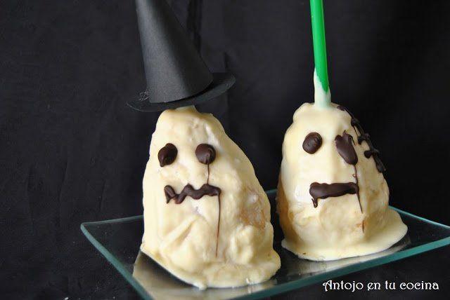 Peras fantasmas para Halloween