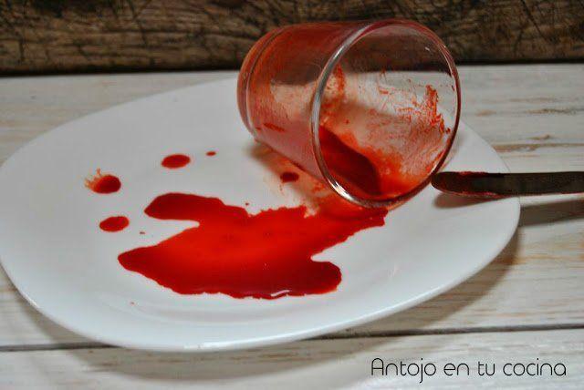 Cómo hacer sangre comestible