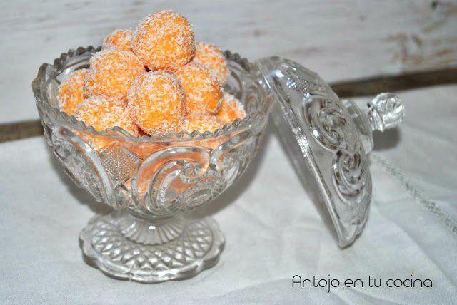 Bolitas de zanahoria, coco y leche condensada