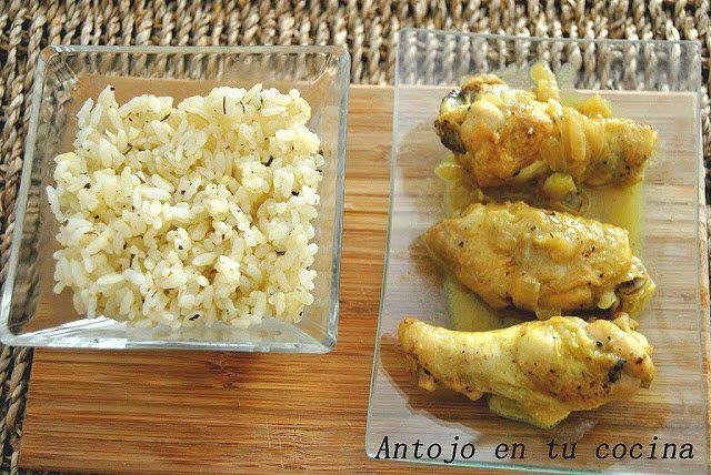 Alitas de pollo con leche de coco al curry