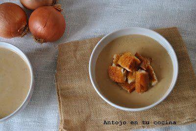 crema de cebolla con picatostes caseros