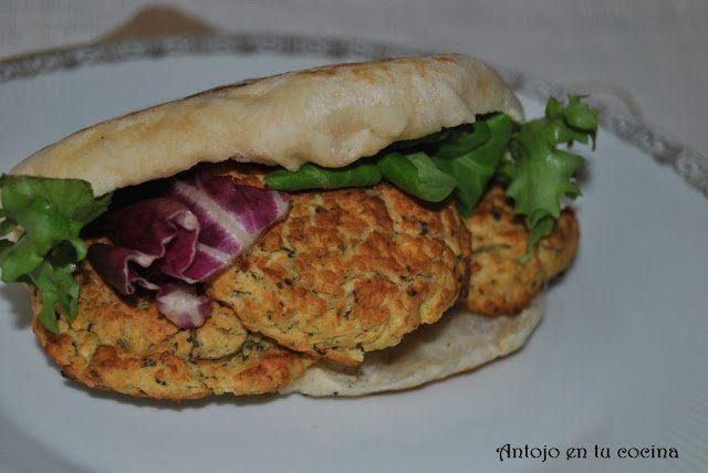 falafel con pan de pita casero