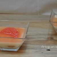 gelatina leche de coco y pomelo