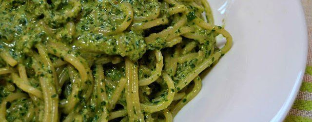 pesto de rucula y nueces