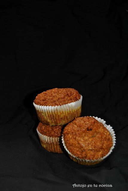 Muffins integrales de papaya y coco