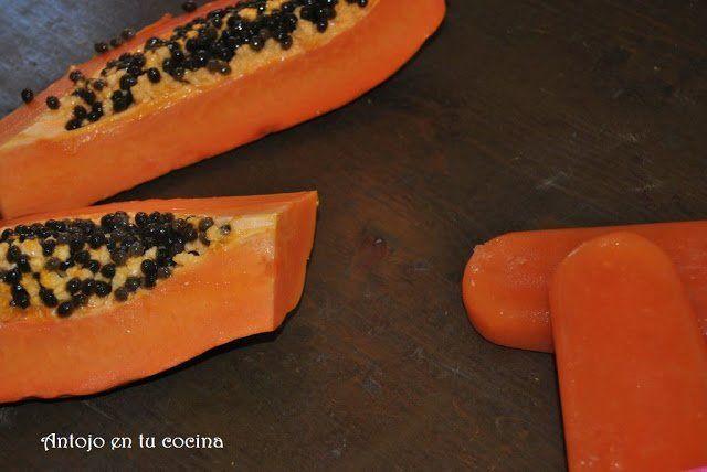 Polos de papaya y cítricos