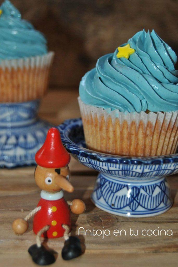 Cupcakes de vainilla con buttercream de yemas