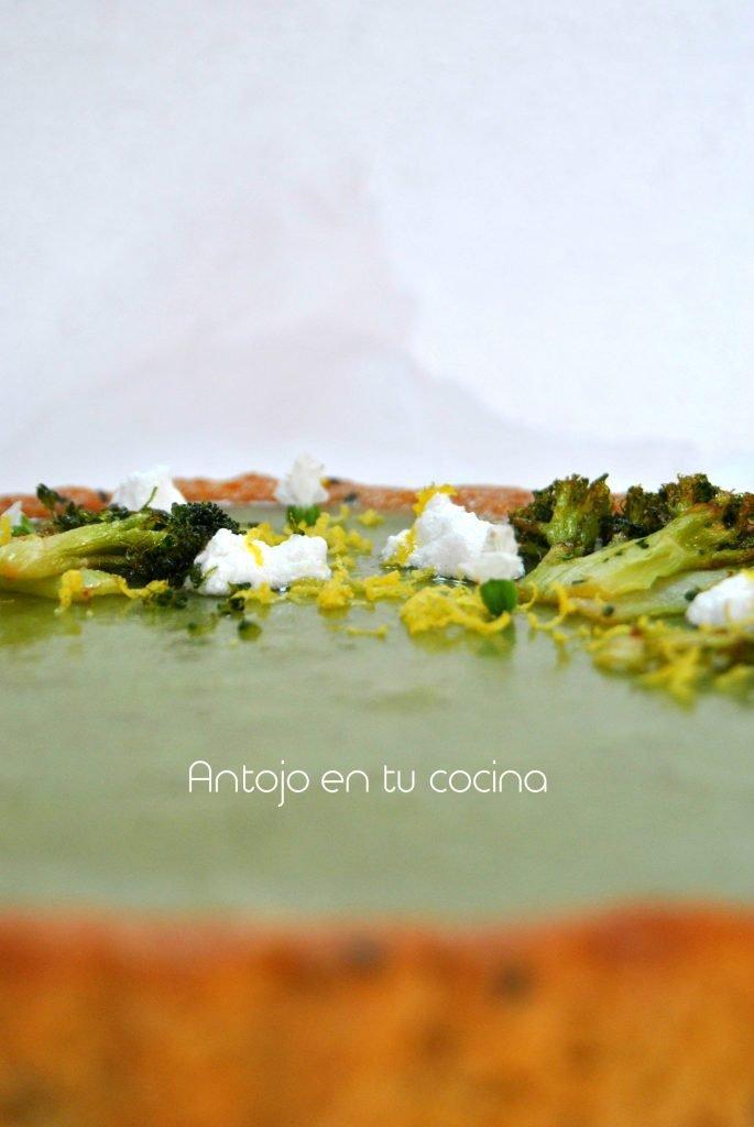 Tarta de brocoli y limon