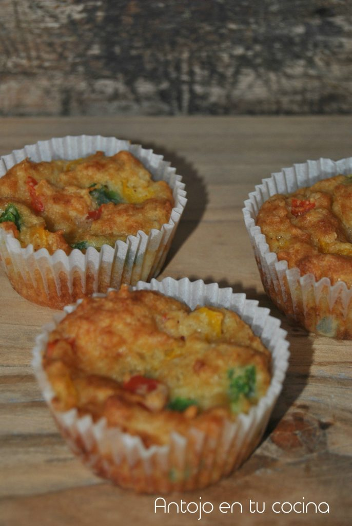 Corn bread three peppers muffins