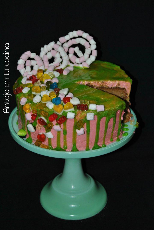 tarta piñata de leche con galletas