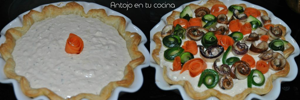 Tarta de verduras y requesón