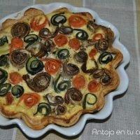 tarta de verduras y requeson