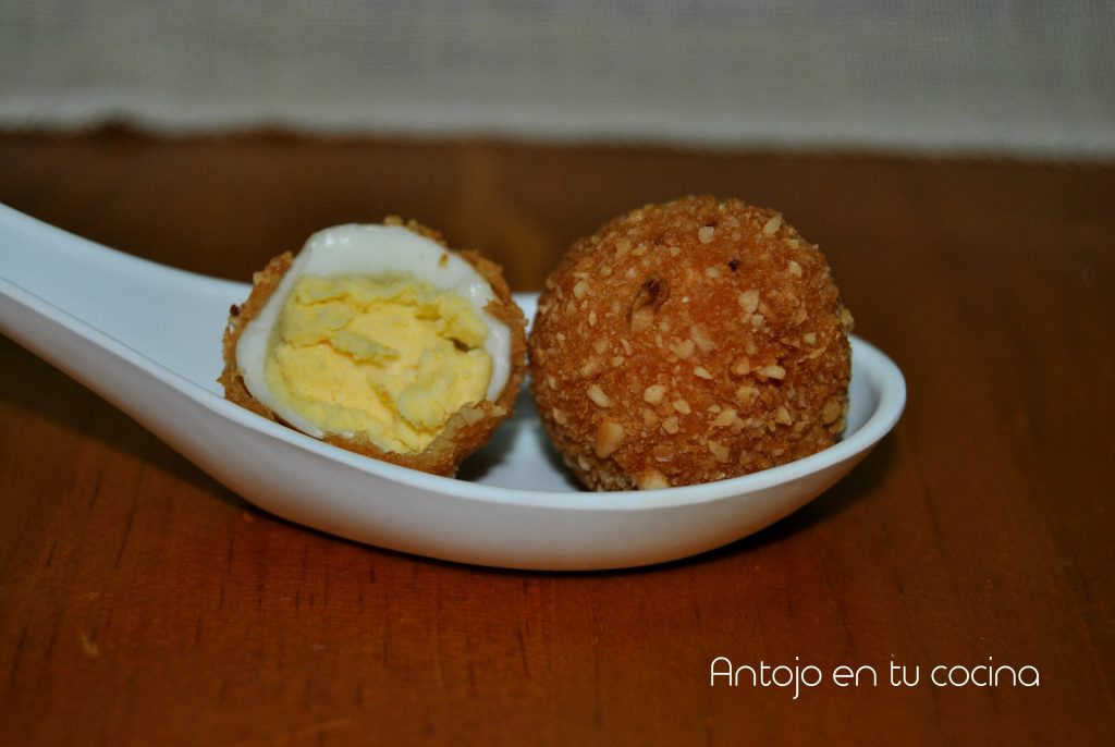 huevo codorniz rebozado avellana