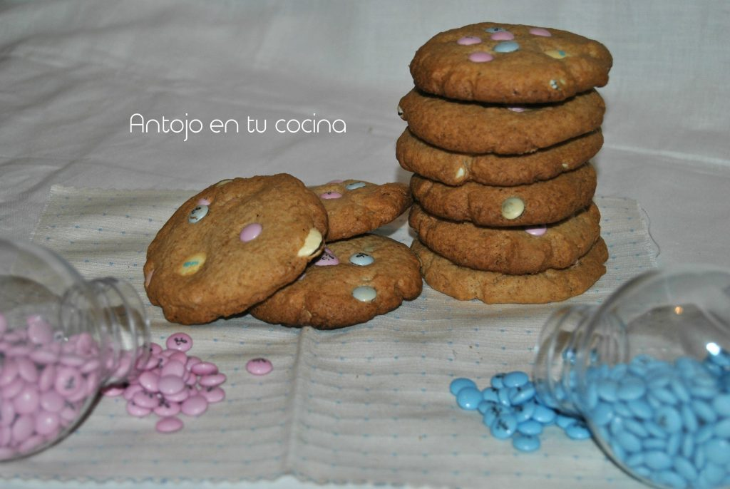 Galletas con lacasitos {sin gluten}