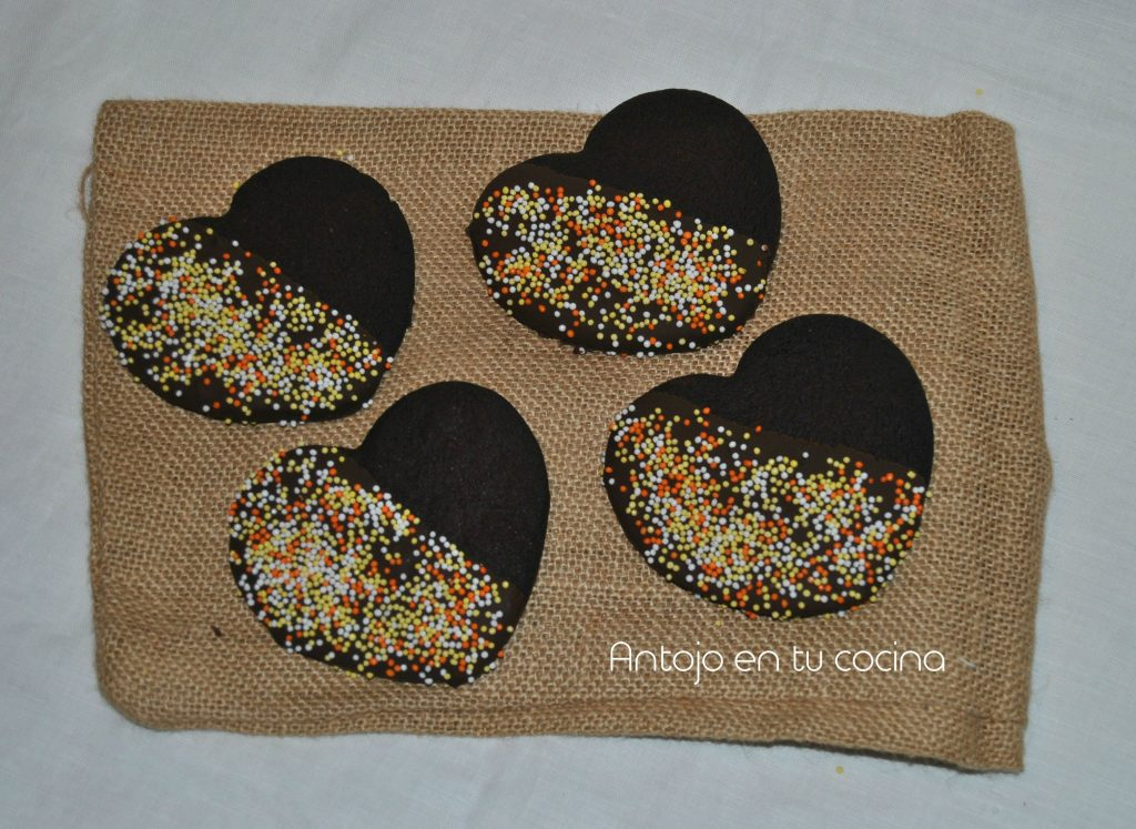 galletas chocolate corazon