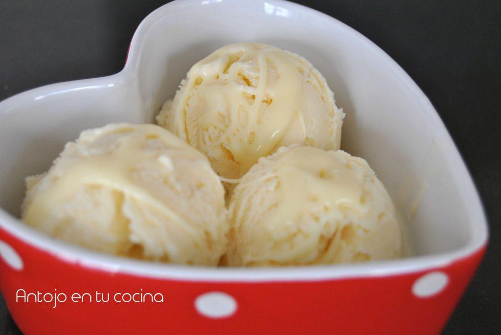 helado chocolate blanco
