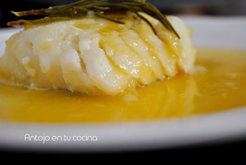Cod with honey and mustard sauce