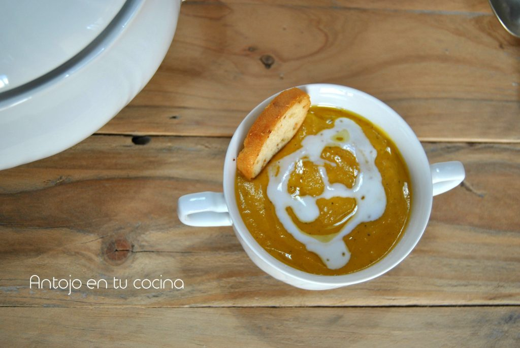 crema zanahoria, coco y jengibre