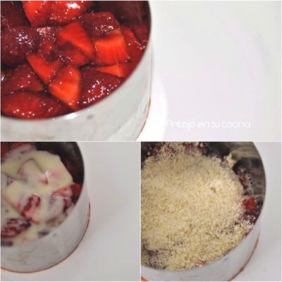 fresas con helado de chocolate blanco paso a paso