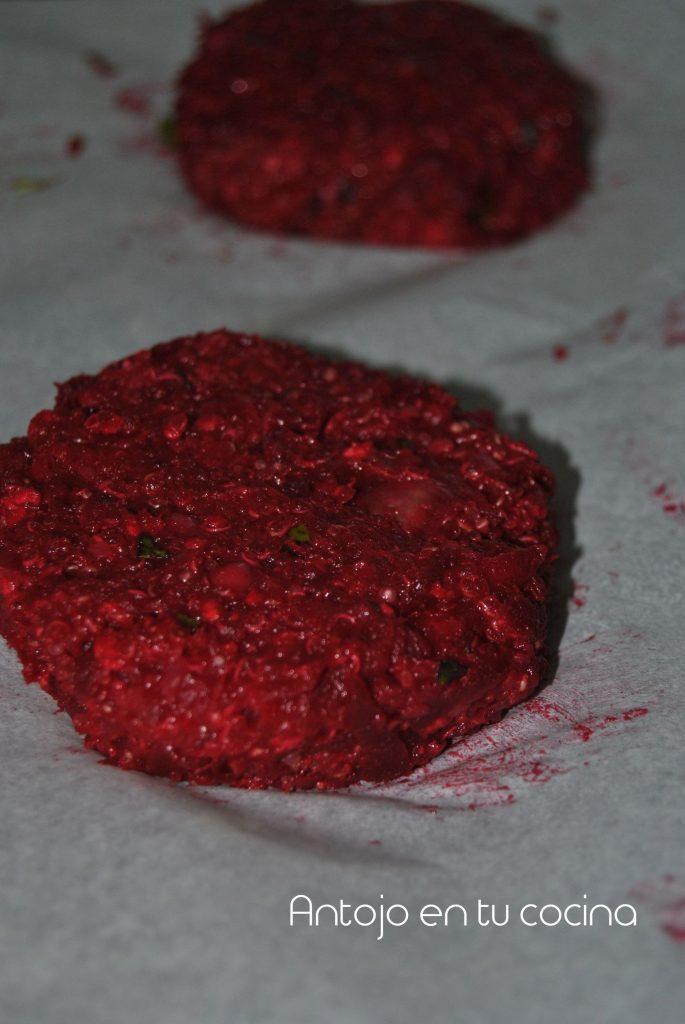 hamburguesas de quinoa con salsa esparragos 4