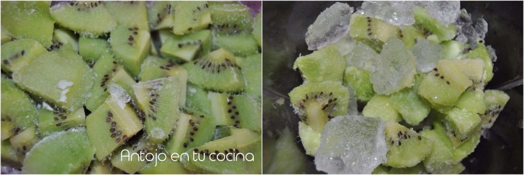 granizado fresa y kiwi